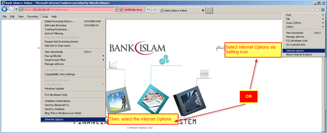 Bank Islam FOS-Guidance : Turning Off Pop-up Blocker